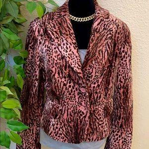 Elegant Fur animal print jacket